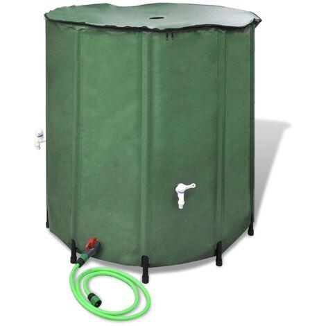 """main image of """"vidaXL Tanque de agua de lluvia plegable 750 L - Verde"""""""