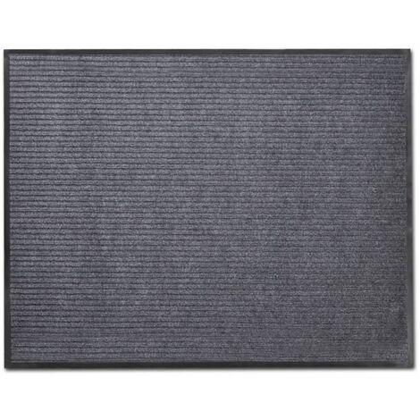 vidaXL Tapis d'entree PVC Gris 90 x 150 cm