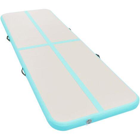 vidaXL Tapis Gonflable de Gymnastique avec Pompe PVC Tapis d'Exercice Airtrack Fitness Maison Yoga Parc Extérieur Multi-taille Multicolore