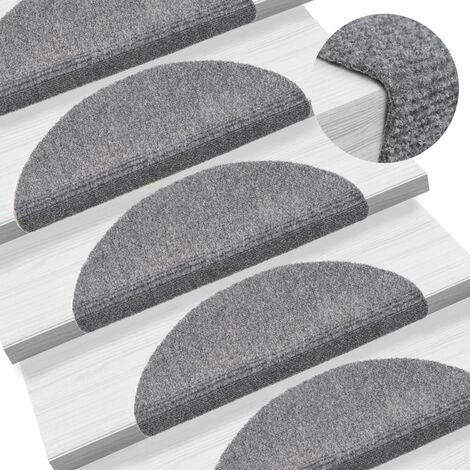 """main image of """"vidaXL 15x Tappetini Autoadesivi per Scale Passatoia Corsia Moquette Elegante Arredi Interni Tessili Casa Decorativo Misure e Modelli Diversi"""""""
