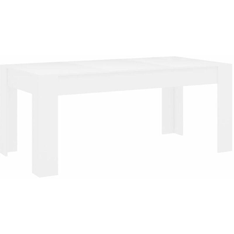 Colore Bianco cm 180 x 90 Dmora Tavolo Moderno in Legno e Vetro