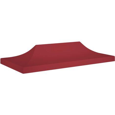 vidaXL Techo de carpa para celebraciones burdeos 6x3 m 270 g/m² - Rojo