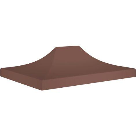 vidaXL Techo de carpa para celebraciones marrón 4x3 m 270 g/m² - Marrón