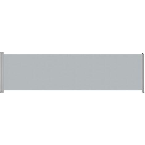 BNT Flamingo Tenda Laterale Retrattile per Patio 170x500 cm Grigio