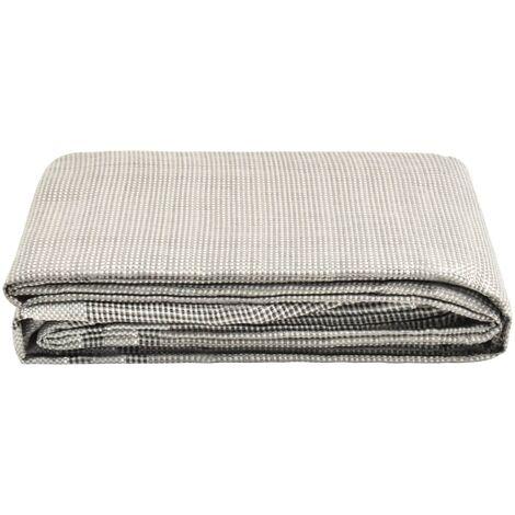 vidaXL Tent Carpet 250x250 cm Dark Grey - Grey