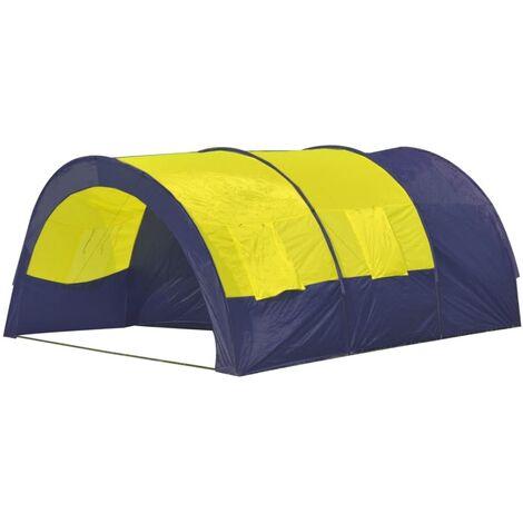 vidaXL Tente de Camping 9 Personnes Tente de Randonnée Tente de Voyage Tente d'Extérieur Arrière-cour Portable Pliable en Plein Air Multicolore