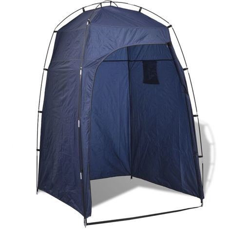 vidaXL Tente de douche/WC/dressing Bleu