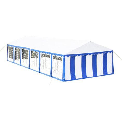 vidaXL Tente de Réception Tonnelle Tente Pavillon de Jardin Chapiteau Belvédère Moderne de Patio Jardin Protection Solaire 12x6 m Bleu/Rouge