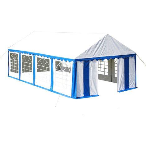 vidaXL Tente de Réception Tonnelle Tente Pavillon de Jardin Chapiteau Belvédère Moderne de Patio Jardin Protection Solaire 4x8 m Bleu/Rouge