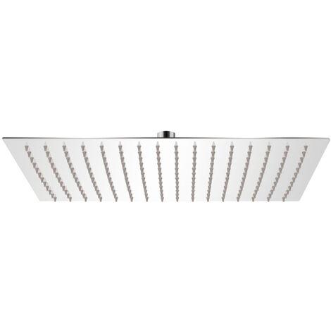 vidaXL Tete de douche plongeante rectangulaire en acier inoxydable 30x40 cm