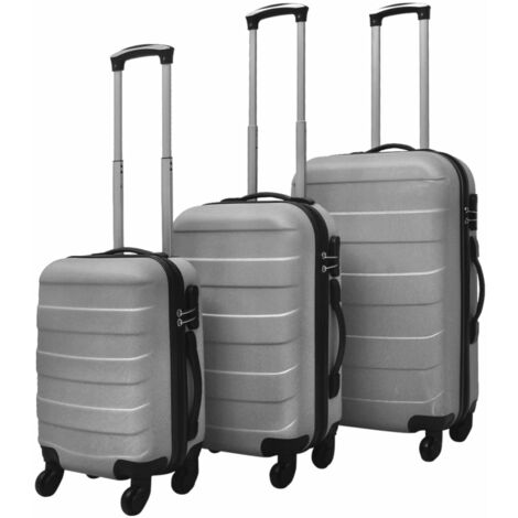 "main image of ""vidaXL Hardcase Trolley Set 3 Piece Lightweight Durable Travel Luggage Security Lock Wheels Castors Suitcase Bag Case Multi Colours"""