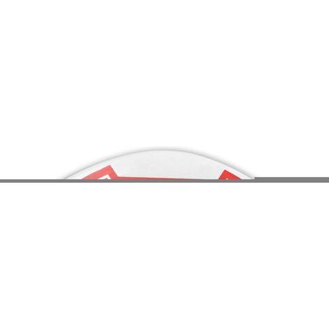 vidaXL Three Piece Wall Mounted Basketball Backboard Set 90x60 cm - White