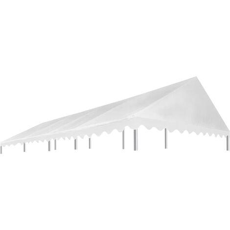vidaXL Toit de Tente de Réception Bâche de Tente de Jardin Toit Moderne de Pavillon Toit de Belvédère de Patio Dimensions Diverses Blanc