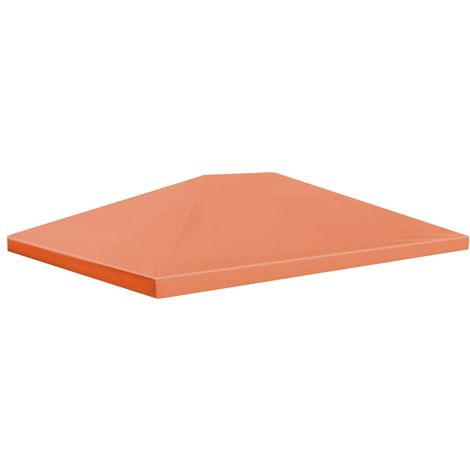 vidaXL Toldo de cenador 310 g/m2 4x3 m naranja