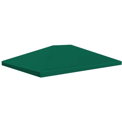 vidaXL Toldo de cenador 310 g/m2 4x3 m verde