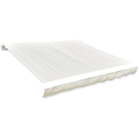 vidaXL Toldo de Lona 400 cm Amarillo y Blanco - Amarillo