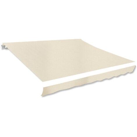 VidaXL Toldo de lona color crema 3x2,5 m sin armazon-Solo lienzo, sin marco (no se puede enviar a Baleares)