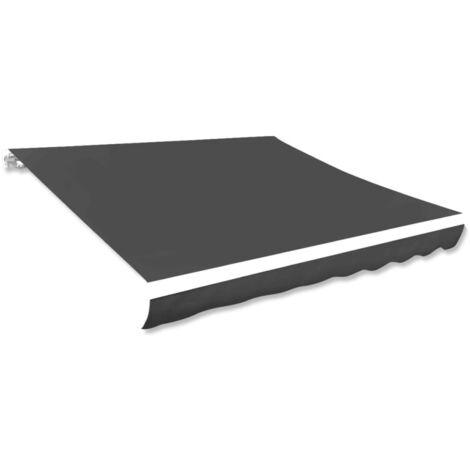 vidaXL Toldo de lona gris antracita 281x246 cm