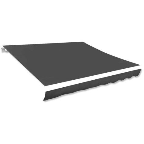 vidaXL Toldo de lona gris antracita 381x296 cm