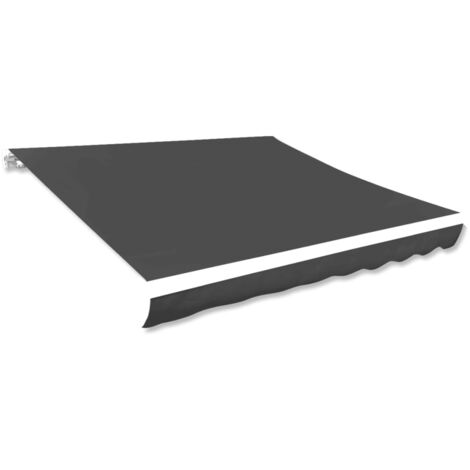vidaXL Toldo de lona gris antracita 436x296 cm
