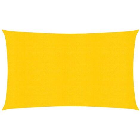 vidaXL Toldo de vela HDPE amarrilo 160 g/m² 3x6 m - Amarillo