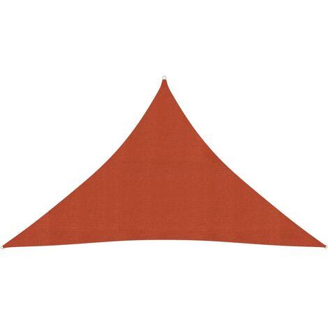 vidaXL Toldo de vela HDPE terracota 160 g/m² 3,5x3,5x4,9 m