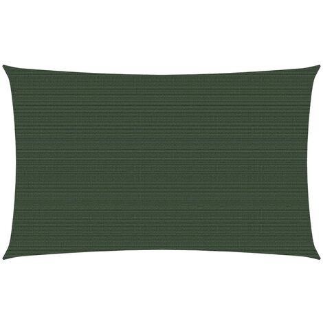 vidaXL Toldo de vela HDPE verde oscuro 160 g/m² 3x6 m - Verde
