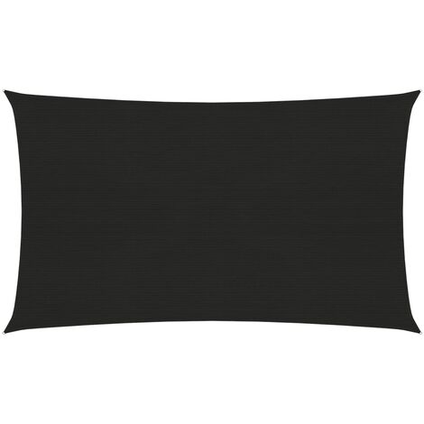 vidaXL Toldo de vela negro HDPE 160 g/m² 3x6 m - Negro