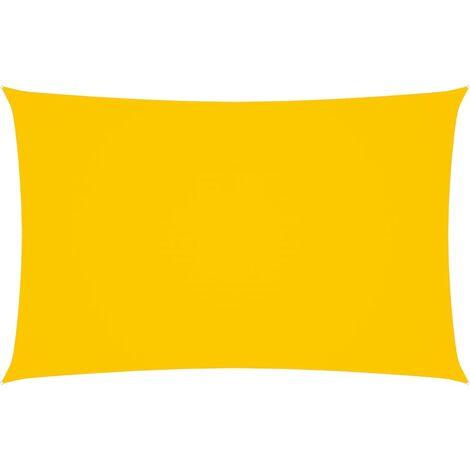 vidaXL Toldo de vela rectangular de tela oxford amarillo 3x6 m - Amarillo