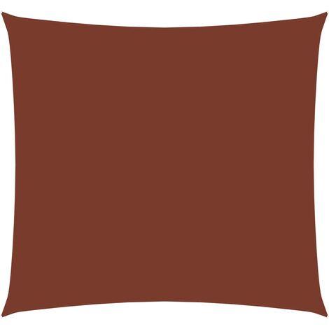 vidaXL Toldo de vela rectangular de tela oxford terracota 2,5x3 m