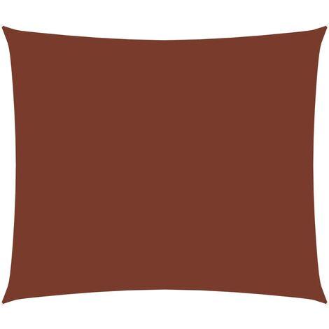 vidaXL Toldo de vela rectangular de tela oxford terracota 2,5x3,5 m