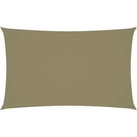vidaXL Toldo de vela rectangular tela oxford beige 3x6 m - Beige