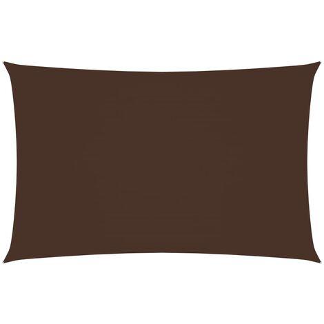 vidaXL Toldo de vela rectangular tela oxford marrón 3x6 m - Marrón