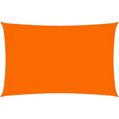 vidaXL Toldo de vela rectangular tela oxford naranja 3x6 m - Naranja