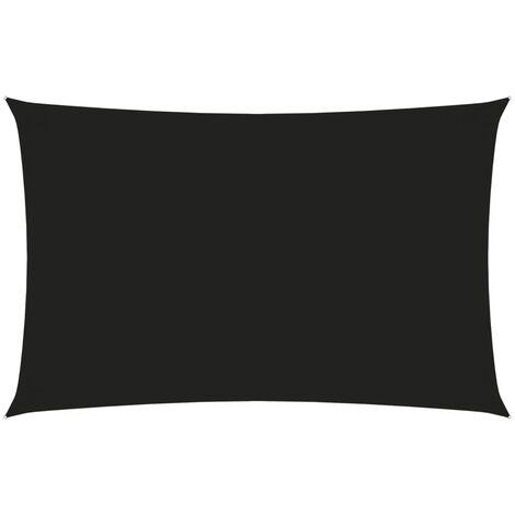 vidaXL Toldo de vela rectangular tela oxford negro 3x6 m - Negro