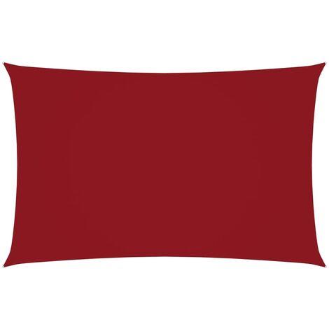 vidaXL Toldo de vela rectangular tela oxford rojo 3x6 m - Rojo