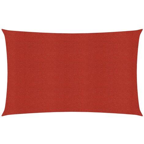vidaXL Toldo de vela rojo HDPE 160 g/m² 3x6 m - Rojo