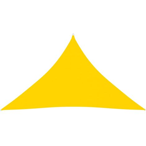 vidaXL Toldo de vela triangular de tela oxford amarillo 3,5x3,5x4,9 m - Amarillo