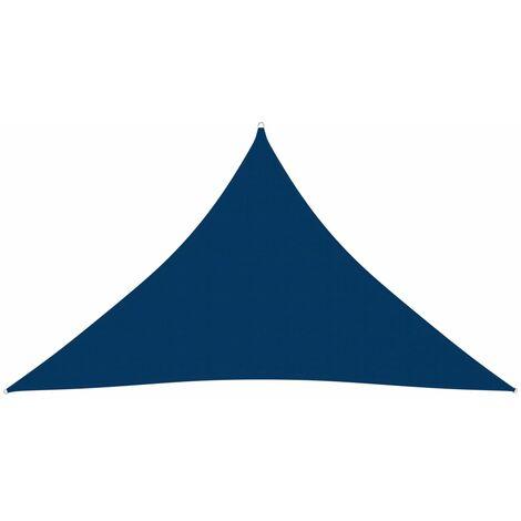 vidaXL Toldo de vela triangular de tela oxford azul 3,5x3,5x4,9m - Azul