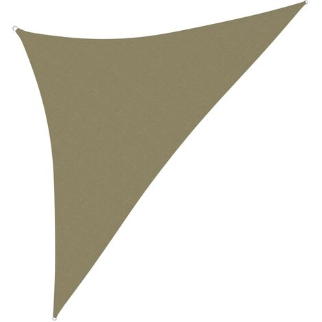 vidaXL Toldo de vela triangular de tela oxford beige 3,5x3,5x4,9 m - Beige