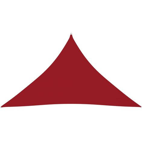 vidaXL Toldo de vela triangular de tela oxford rojo 3,5x3,5x4,9m - Rojo
