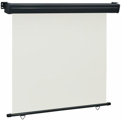 vidaXL Toldo lateral de balcón color crema 160x250 cm - Crema
