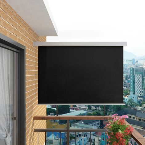 vidaXL Toldo lateral de balcon multifuncional 180x200 cm negro