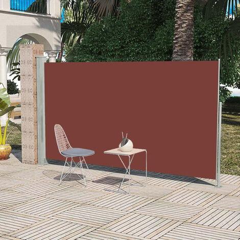 vidaXL Toldo lateral de jardin o terraza 160 x 300 cm marron