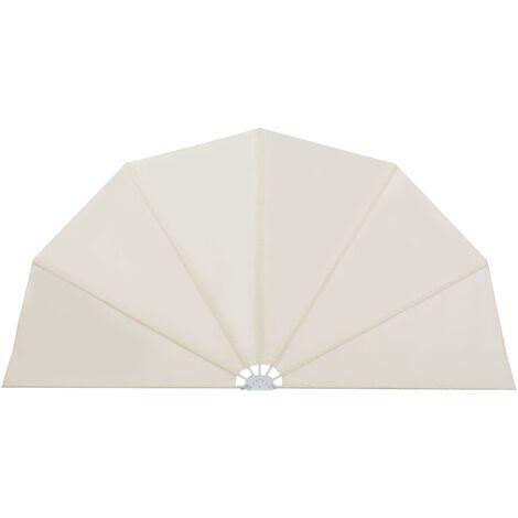 vidaXL Toldo lateral plegable terraza color crema 160 cm - Crema