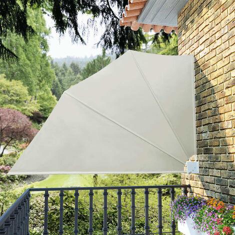 vidaXL Toldo lateral plegable terraza color crema 160x240 cm