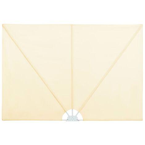 vidaXL Toldo lateral plegable terraza color crema 240x160 cm - Crema