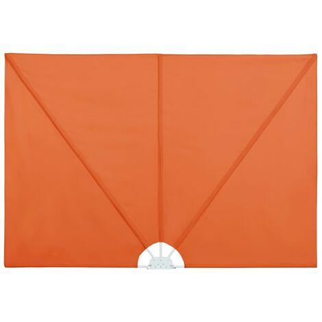 vidaXL Toldo lateral plegable terraza color terracota 240x160 cm - Marrón