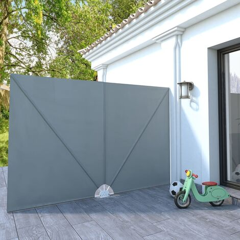 vidaXL Toldo lateral plegable terraza gris 300x200 cm - Gris
