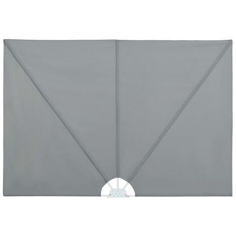 vidaXL Toldo lateral plegable terraza gris 400x200 cm - Gris
